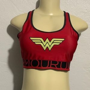 Wonder Woman Sports Bra Sz 14